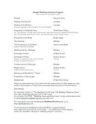 Wedding Ceremony Templates Free Sample Wedding Program Template