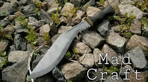 Как сделать <b>нож</b> из рессоры без ковки. <b>Кукри</b> своими руками ...