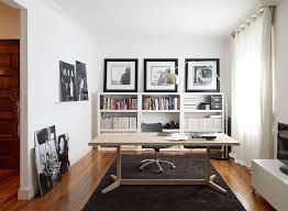 view in gallery lovely desk brings warmth of wood to the contemporary home office in black and white black contemporary home office