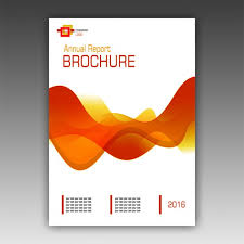Pamphlet Template Free Orange Brochure Template Psd File Free Download