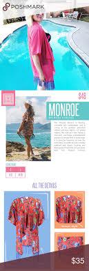 Lularoe Monroe Size Chart Lularoe Monroe Kimono Color Blocked Fringe Sheer Nwt Lularoe
