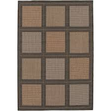 couristan recife summit cocoa black in out rug
