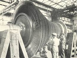 the diffe diameters at each stage are what allow for expansion on this 70 000 hp steam turbine rotor