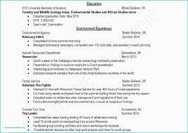 Undergraduate Resume Template New Undergraduate Student Resume