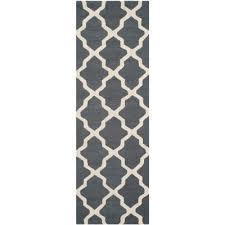 cambridge dark gray ivory 3 ft x 10 ft runner rug