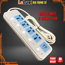 Giá bán B14 Ổ Cắm Điện Đa Năng 4 Phích Cắm 3 Chấu - 2 Cổng Sạc USB Tiện Lợi