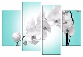 blue orchid 4 panel canvas wall art print 40 inch 101 cm pertaining to orchid canvas on orchid canvas wall art with 20 inspirations orchid canvas wall art wall art ideas