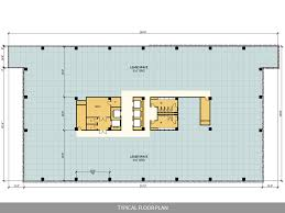 office space floor plan. Typical Floor Plan Of A 10 Story Office Building In Development By J. A. Billipp Space L
