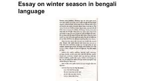 essay on winter season in bengali language google docs