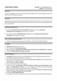 Sample Cover Letter For Sap Basis Consultant Visorgede Co