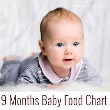 Indian Baby Food Chart For 9 Months Old