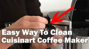 The water should be ⅔ of the total and mix white vinegar ⅓ in it. Cuisinart Coffee Maker How To Clean Cuisinart Coffee Maker Ss 10 Ss 15 Youtube