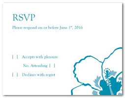 Printable Hibiscus Wedding Response Card Template