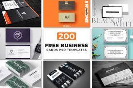 Free Name Cards 200 Free Business Cards Psd Templates Creativetacos