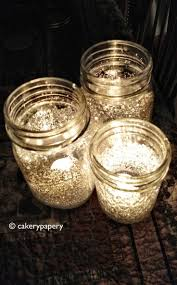 These DIY glittered mason jar candle holders would look totally terrific on  the reception tables at an outdoor wedding, barn wedding, rustic wedding,  ...