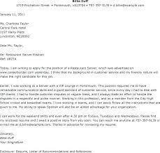 Example Cover Letter For Restaurant Job Canadianlevitra Com