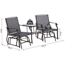 outsunny double glider rocking chairs