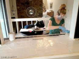 livelovediy how to paint tile countertops