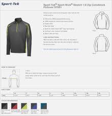 Sport Tek Shirts Size Chart Coolmine Community School