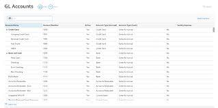 Gl Chart Of Accounts Gl Accounts Workamajig Online Help Guide