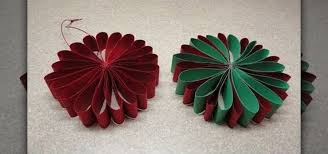 Paper Flower Christmas Tree How To Craft A Simple Folded Paper Flower Ornament For Christmas