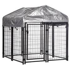 4x4x4 4 outdoor heavy duty playpen welded dog kennel w water resistant cover
