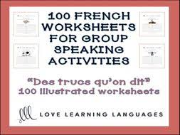 Vocab Building Worksheets Gcse French 100 French Worksheets For Group Speaking Activities 100 Vocabulary Themes