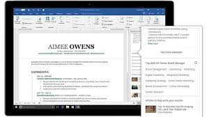 LinkedIn Introduces Resume Assistant For Microsoft Word Here's How Delectable Resume Features