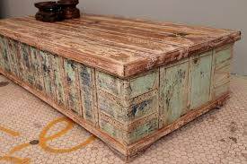 Indian Coffee Table Antique Indian Trunk Coffee Table Chippy Blue Green Chest