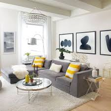 black white living room. Black Gray And Yellow Living Room White Home Decoration Within .