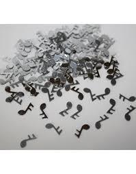Confettis de table forme note de musique argent