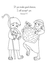 Cain And Abel Black White Free Bible Coloring Page Pages For Kids
