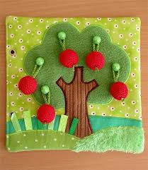 felt quiet book page idea for toddlers hang the apples on the tree made by irinelli