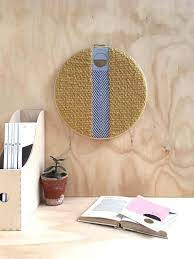 large modern woven wall tapestry round
