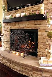 gallery pictures for installing stacked stone fireplace surround