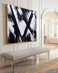 art canvas oil original abstract acrylic painting textured palette knife home decor