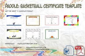 Basketball Certificate Template 7 Best Designs Templates