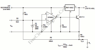 op90 4 ma to 20 ma current loop transmitter circuit wiring diagrams op90 4 ma to 20 ma current loop transmitter