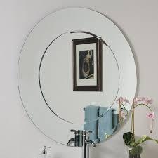 decor wonderland oriana 35 in round bathroom mirror