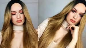 peach monochromatic makeup tutorial