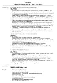 Computer Information Systems Resume Sample Information Systems Specialist Resume Samples Velvet Jobs 12