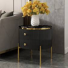 black faux marble side table gold legs