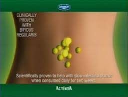 an ad for activia yogurt promoting the benefits of bifidus regularis misleading claims by the yogurt maker have resulted in fines and judgments totalling