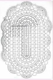 Pg 2 Of 2 Basic Oval Doily Chart Crochet Doily Diagram