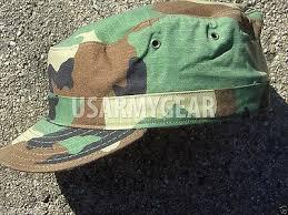 New 7 1 8 7 125 Us Army Military Woodland Camouflage Usgi Patrol Cap Hat Cover Ebay