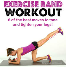 exercise band workout tone and tighten legs