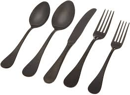 astounding matte black silverware  with additional home decor