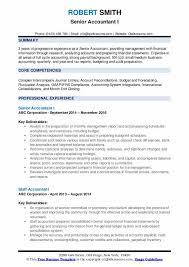Staff Accountant Resume Samples Senior Accountant Resume Samples Qwikresume