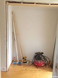 diy closet door makeover bi fold to hinged after pine floors are