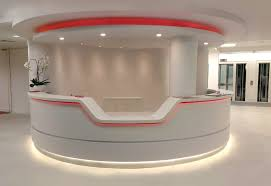 office reception counter curved reception unit acrylic lighted reception desk reception counter design